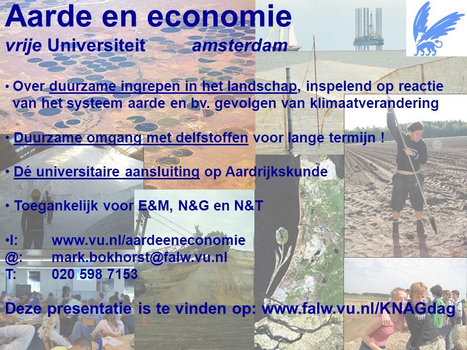 Aarde en economie vrije Universiteit amsterdam