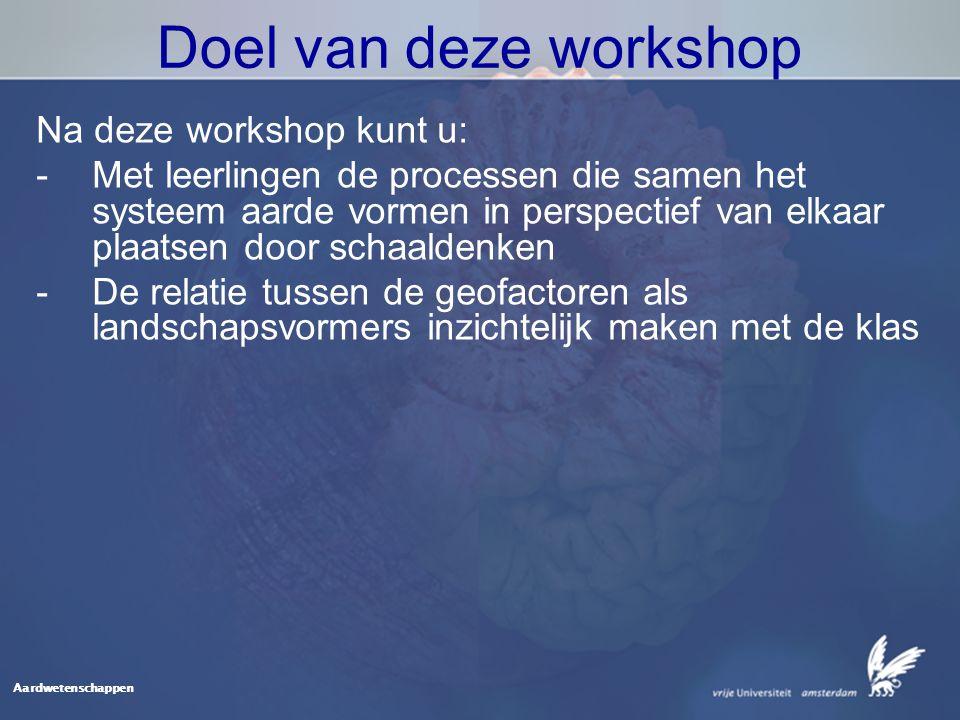 Doel van deze workshop Na deze workshop kunt u: