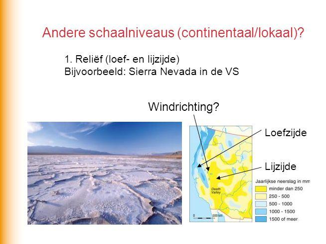Andere schaalniveaus (continentaal/lokaal). 1
