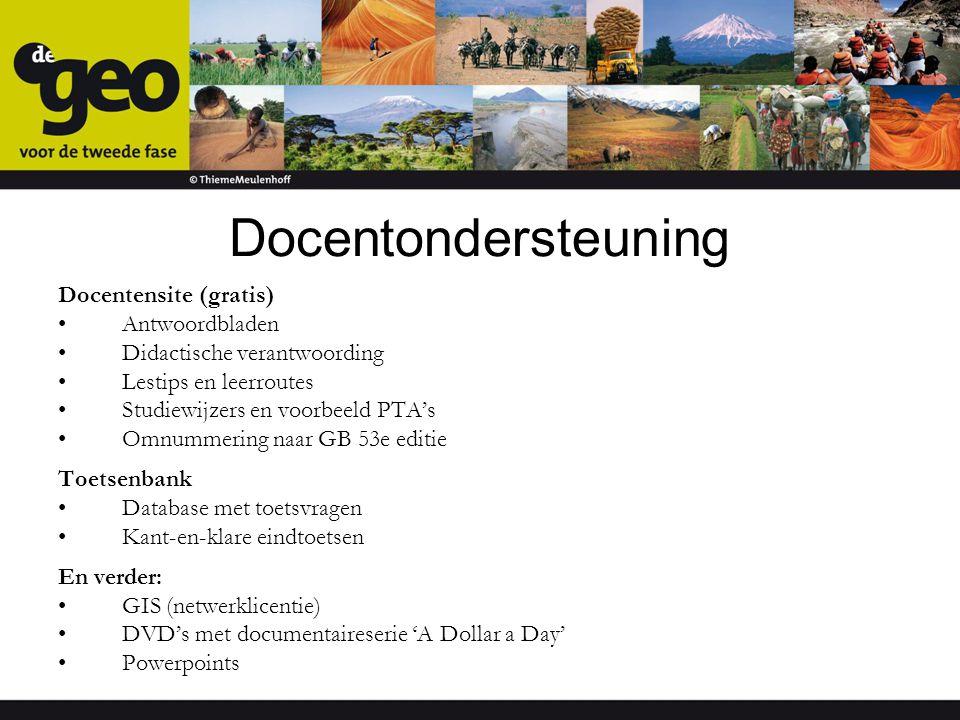 Docentondersteuning Docentensite (gratis) Antwoordbladen