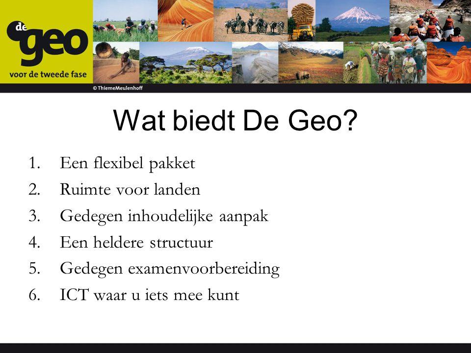 Wat biedt De Geo Een flexibel pakket Ruimte voor landen