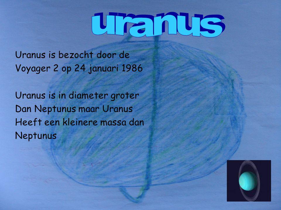 uranus Uranus is bezocht door de Voyager 2 op 24 januari 1986