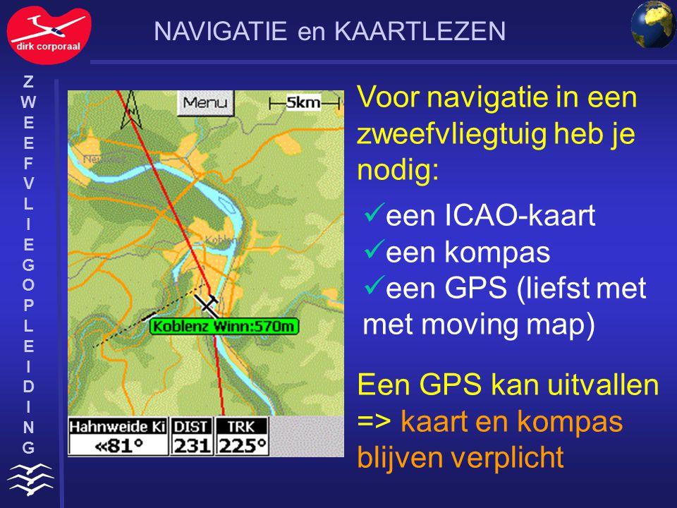 Voor navigatie in een zweefvliegtuig heb je nodig: