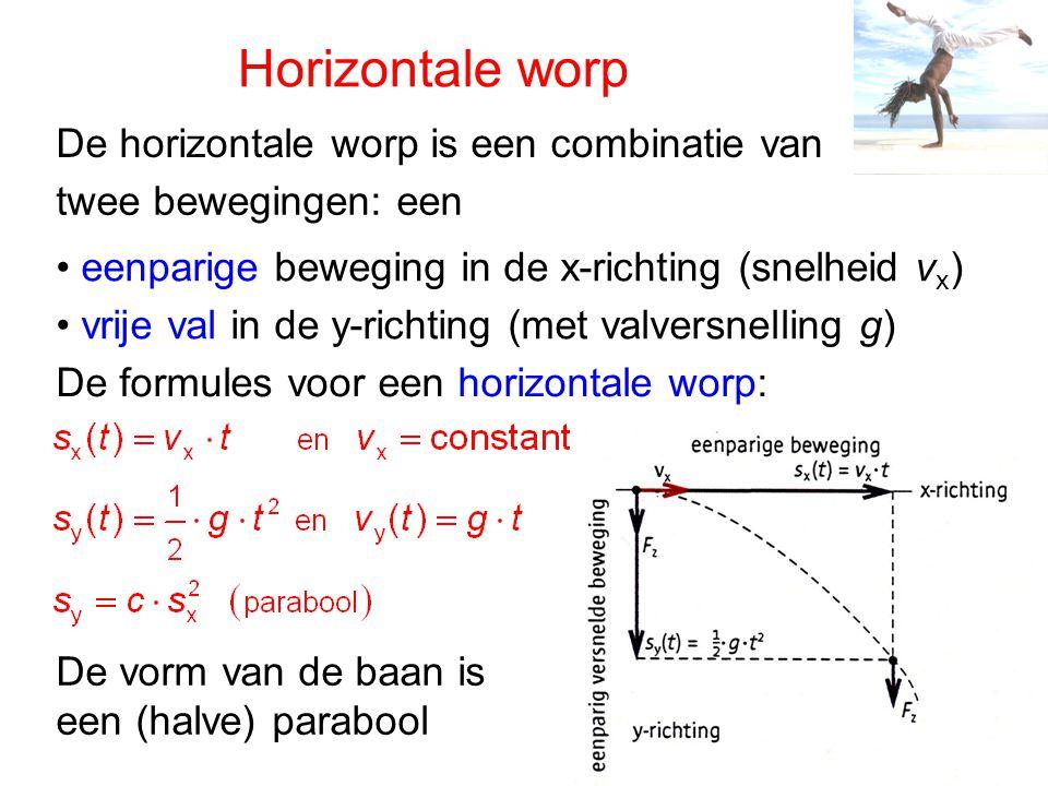 Horizontale worp De horizontale worp is een combinatie van