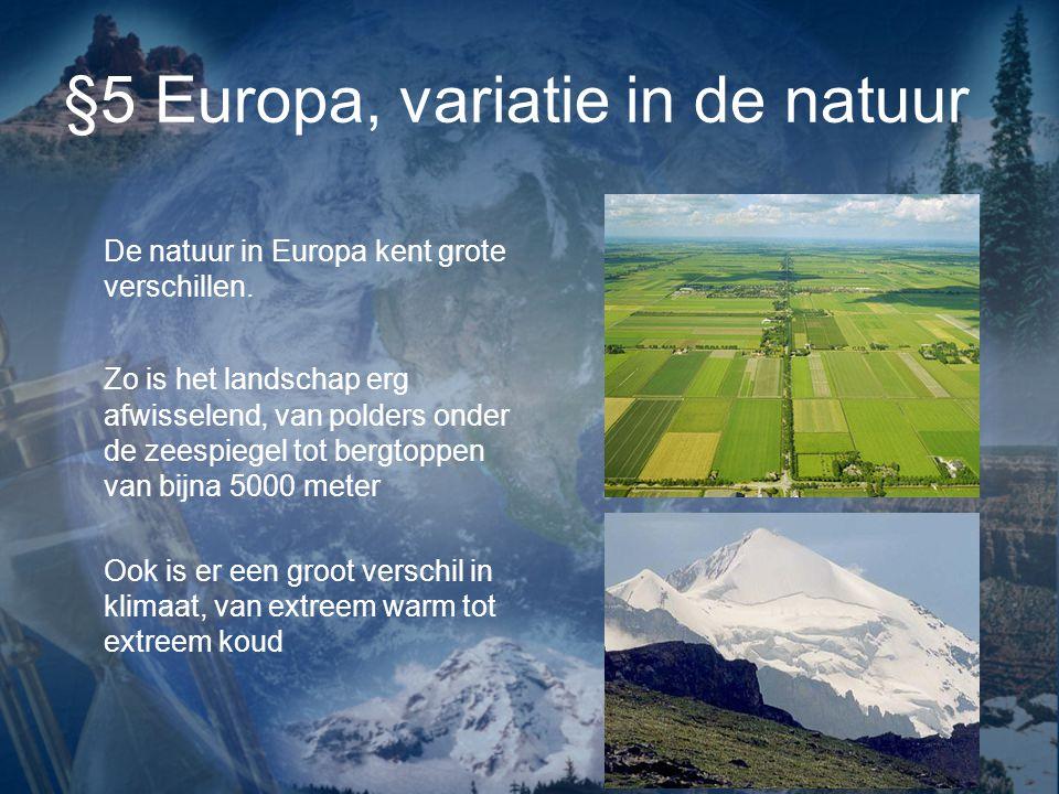 §5 Europa, variatie in de natuur
