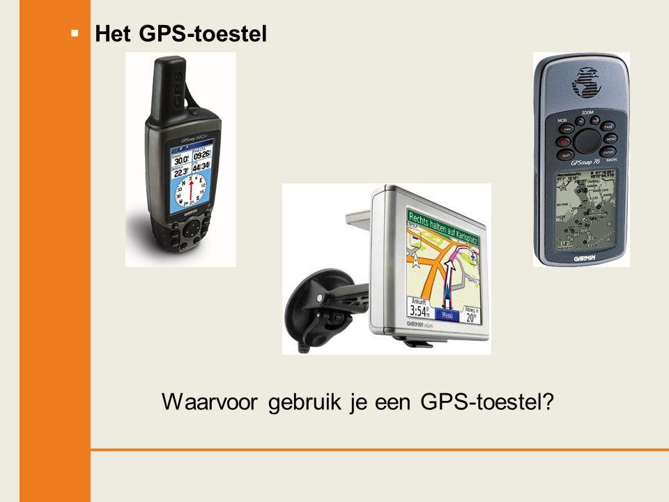 Waarvoor gebruik je een GPS-toestel