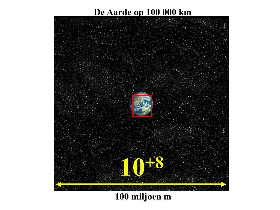 De Aarde op 100 000 km 10+8 100 miljoen m