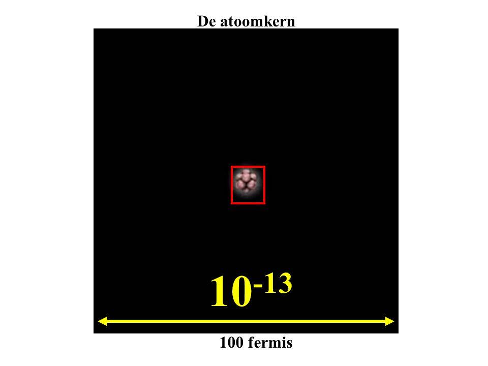 De atoomkern 10-13 100 fermis