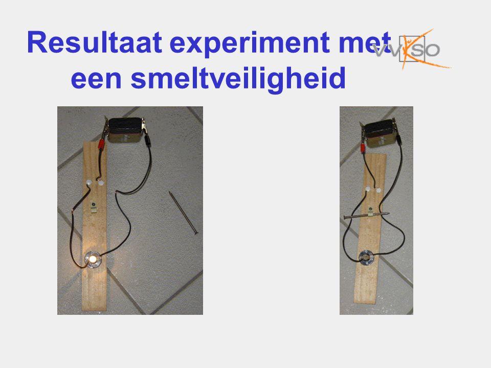 Resultaat experiment met een smeltveiligheid