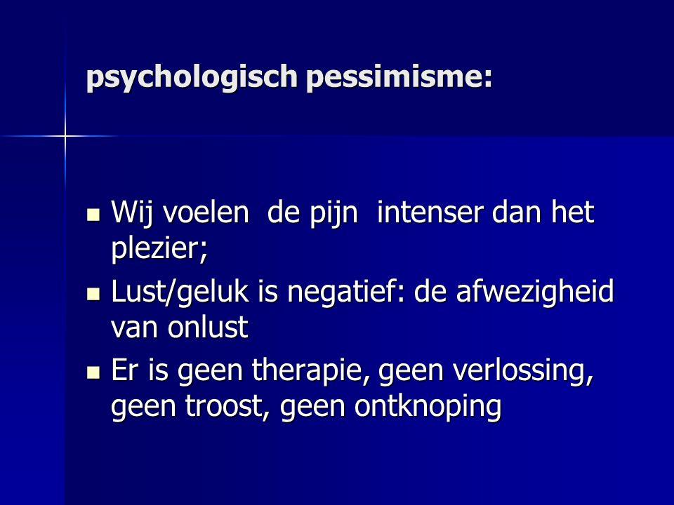 psychologisch pessimisme: