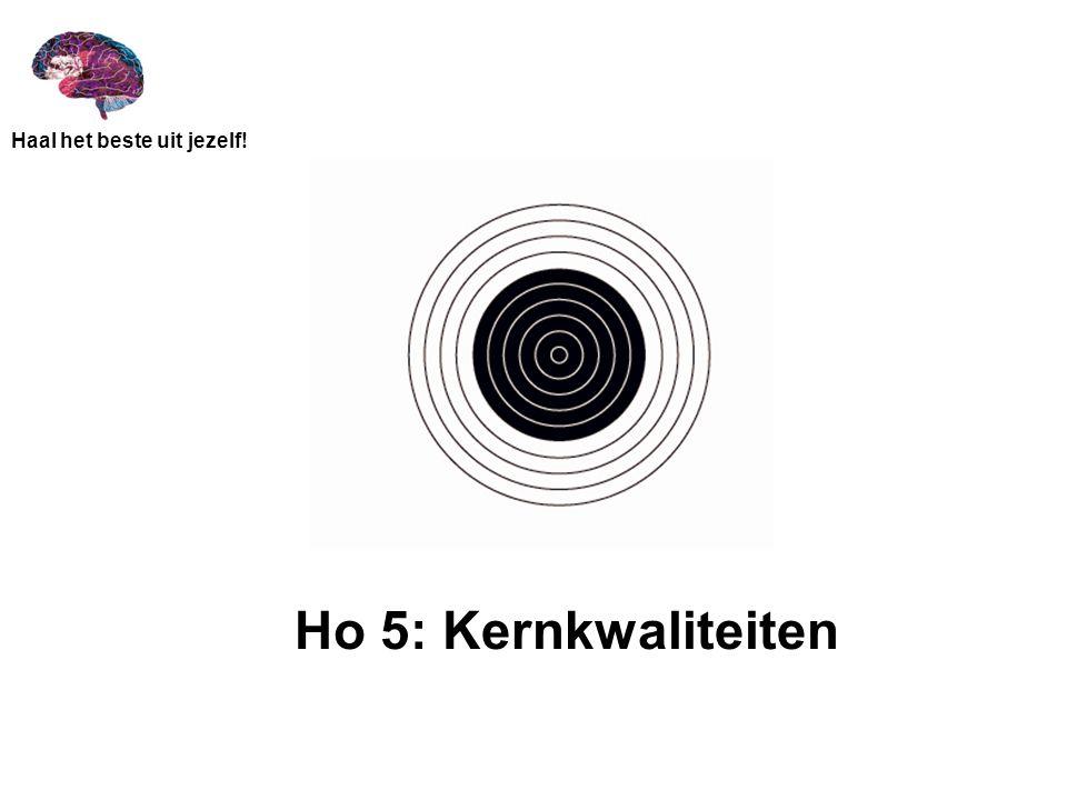 Ho 5: Kernkwaliteiten