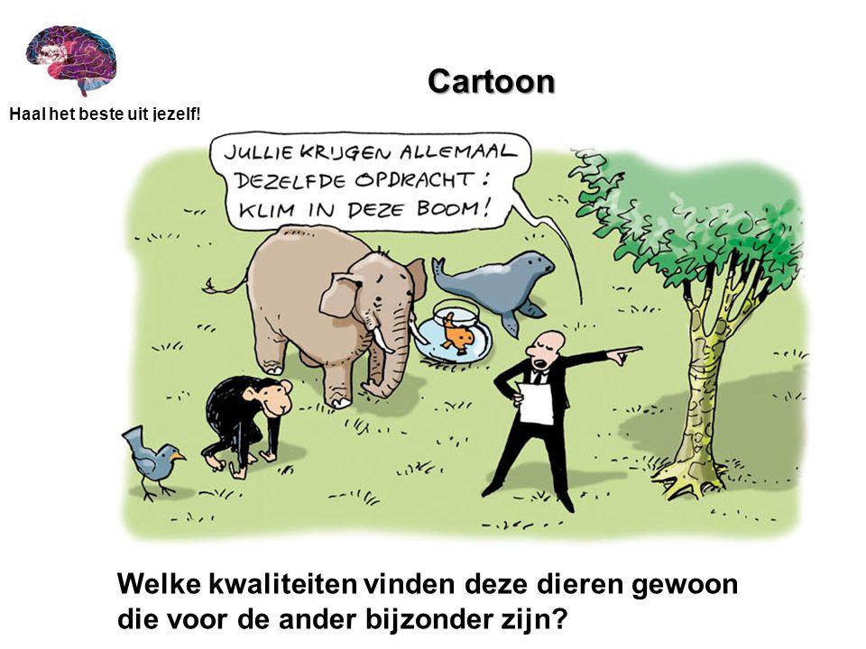 Cartoon Welke kwaliteiten vinden deze dieren gewoon