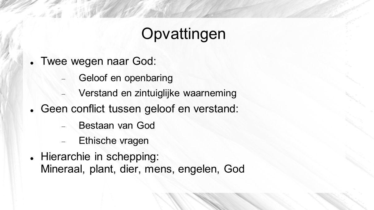 Opvattingen Twee wegen naar God:
