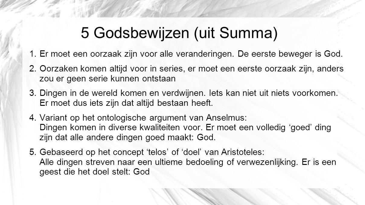 5 Godsbewijzen (uit Summa)