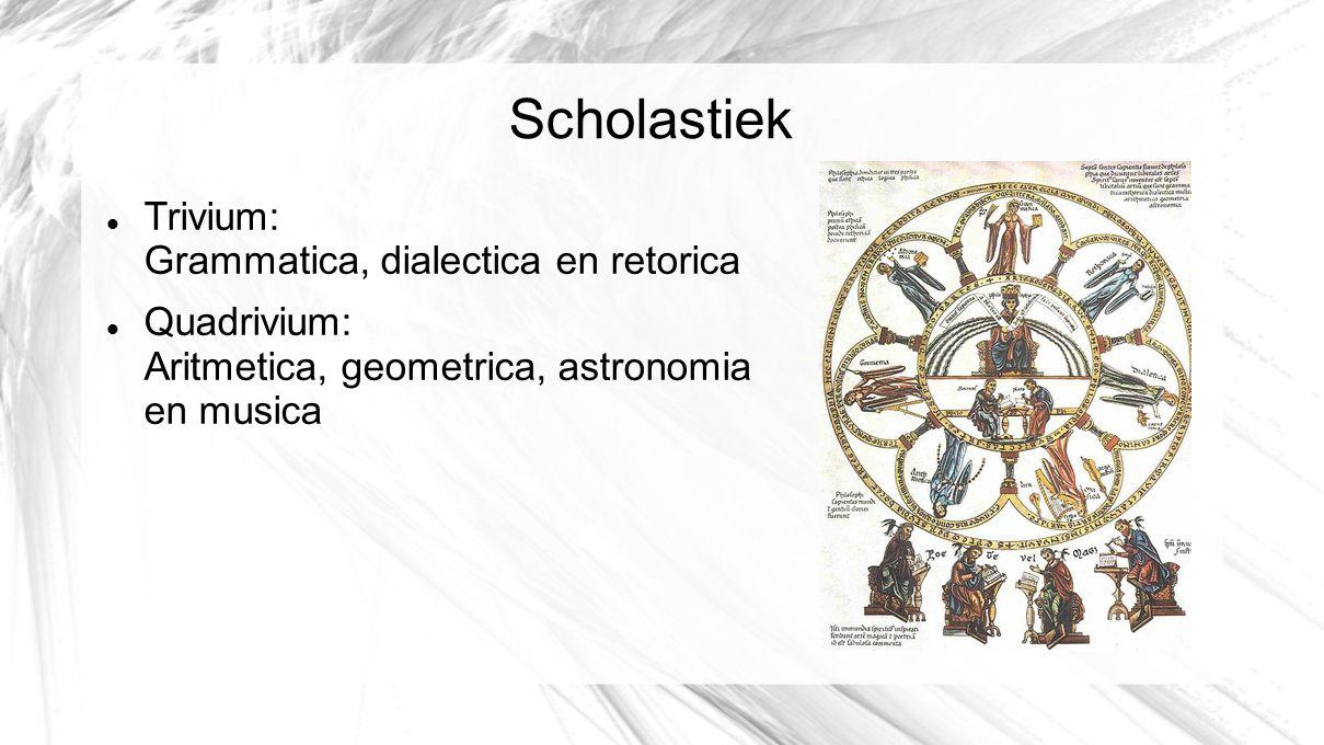 Scholastiek Trivium: Grammatica, dialectica en retorica