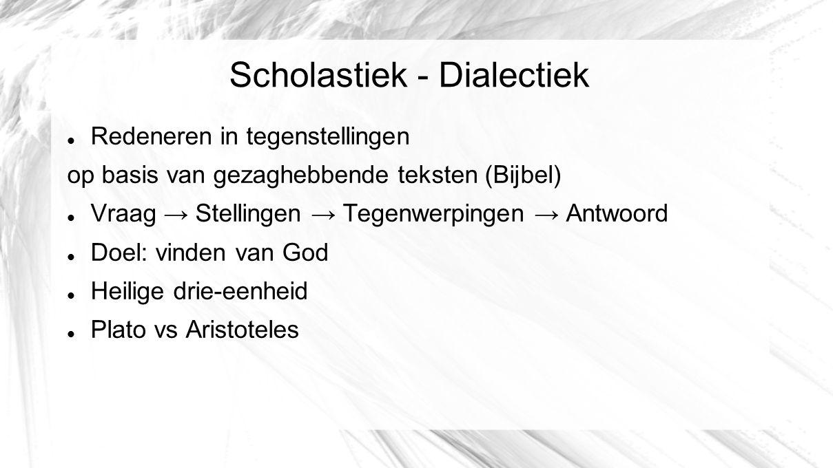 Scholastiek - Dialectiek