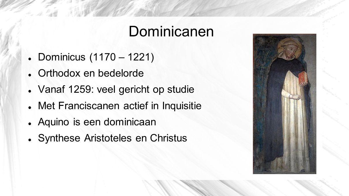 Dominicanen Dominicus (1170 – 1221) Orthodox en bedelorde