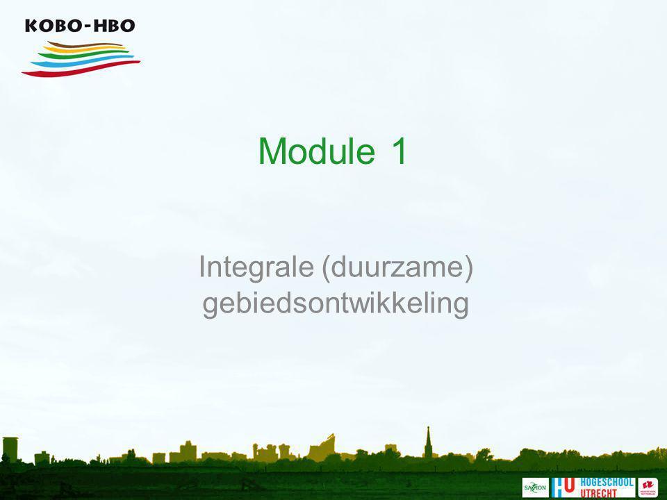 Integrale (duurzame) gebiedsontwikkeling