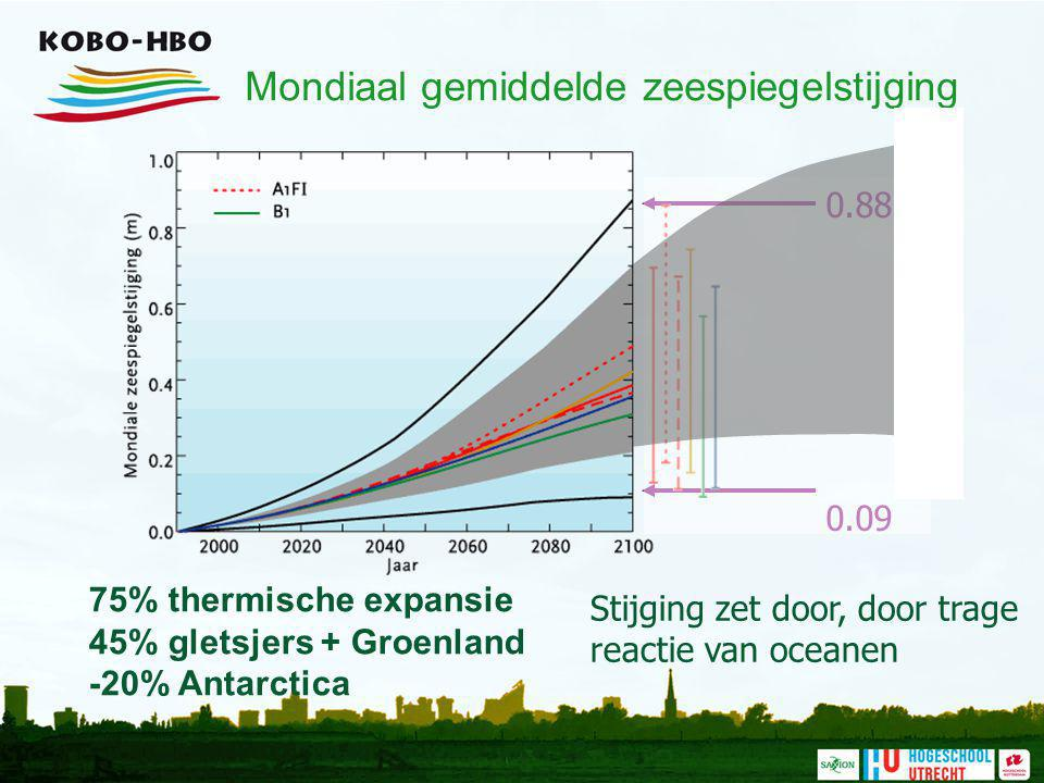 Mondiaal gemiddelde zeespiegelstijging