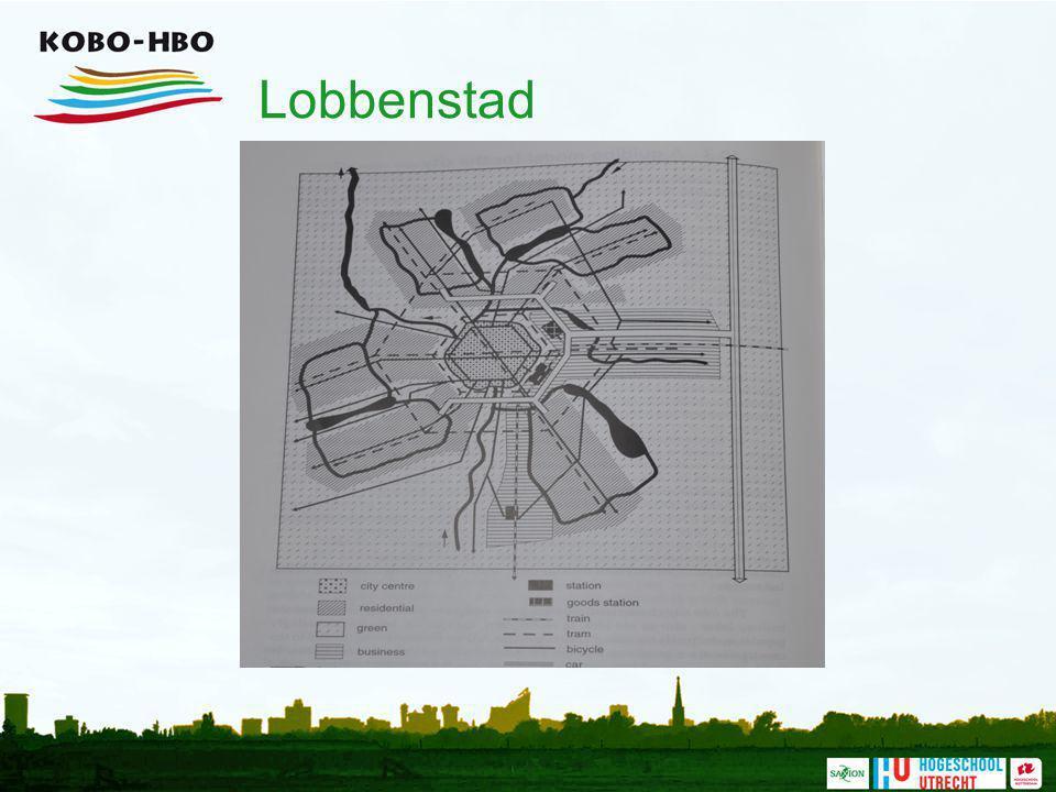 Lobbenstad Dit Model is geen plan ! Het wil in principe oplossing aanreiken ; een gidsmodel voor de ruimtelijke organisatie van functies.