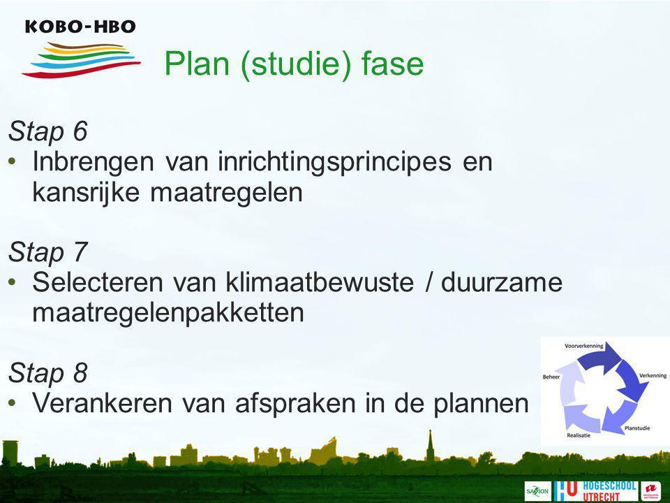 Plan (studie) fase Stap 6