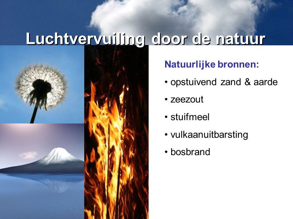 Luchtvervuiling door de natuur