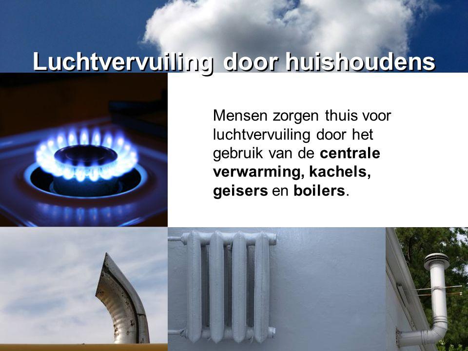 Luchtvervuiling door huishoudens