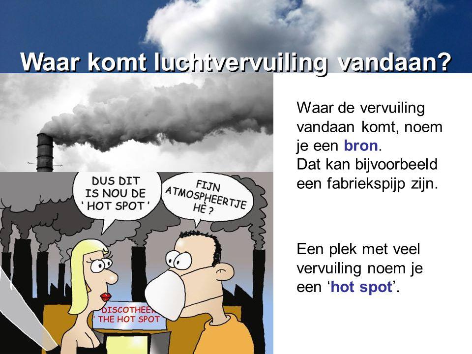 Waar komt luchtvervuiling vandaan