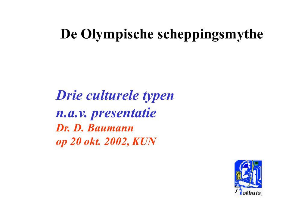 De Olympische scheppingsmythe