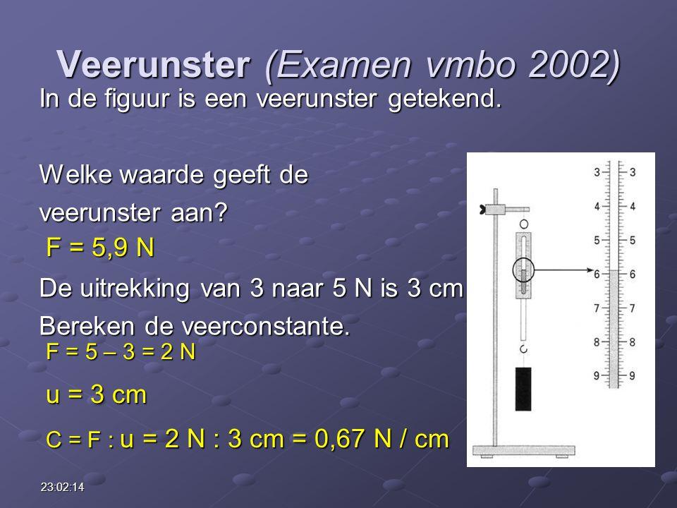 Veerunster (Examen vmbo 2002)