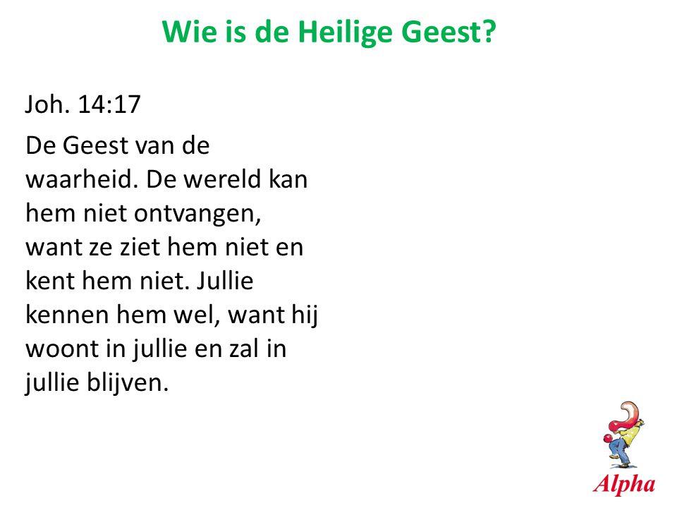 Wie is de Heilige Geest Joh. 14:17