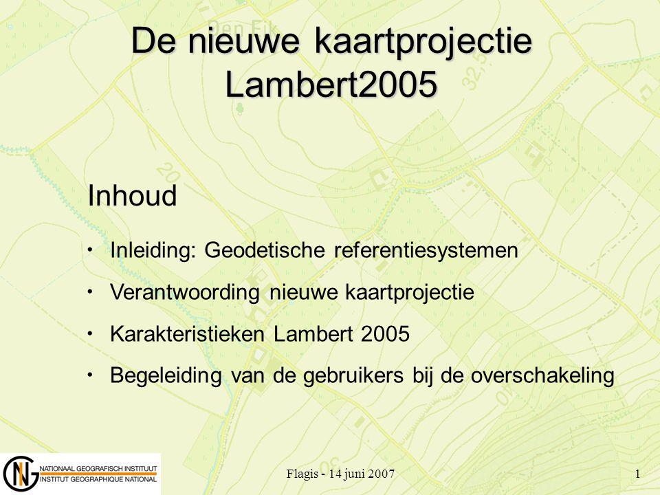 De nieuwe kaartprojectie Lambert2005