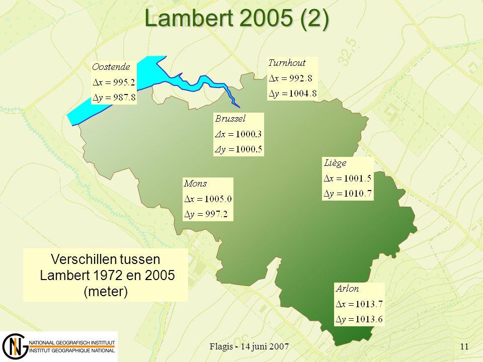 Lambert 2005 (2) Verschillen tussen Lambert 1972 en 2005 (meter)