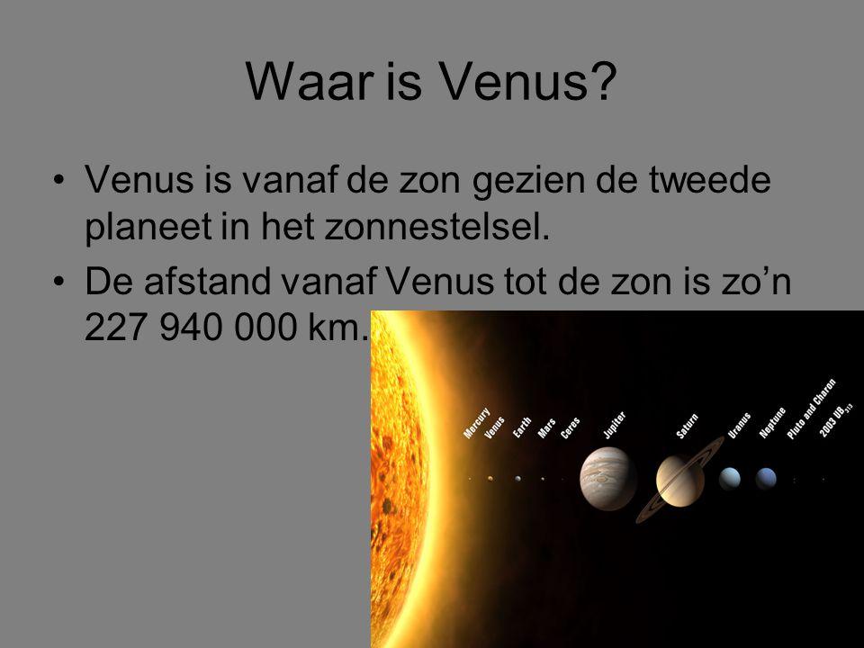 Waar is Venus. Venus is vanaf de zon gezien de tweede planeet in het zonnestelsel.