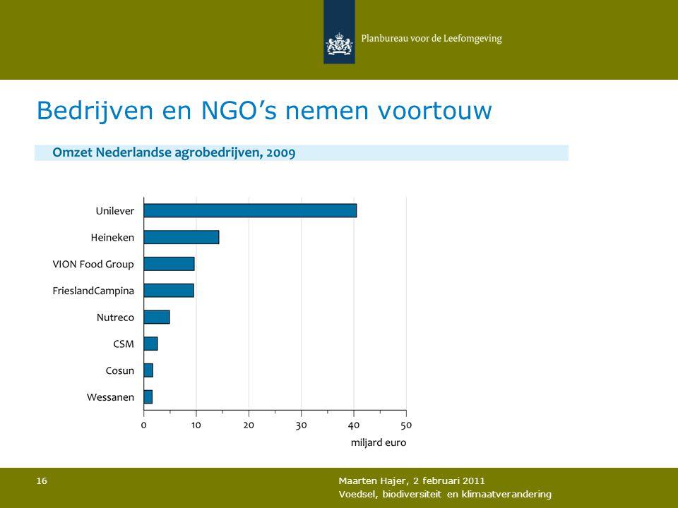 Bedrijven en NGO's nemen voortouw