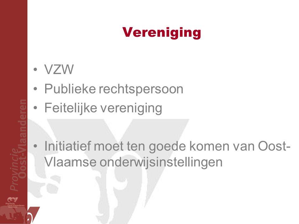 Vereniging VZW. Publieke rechtspersoon. Feitelijke vereniging.