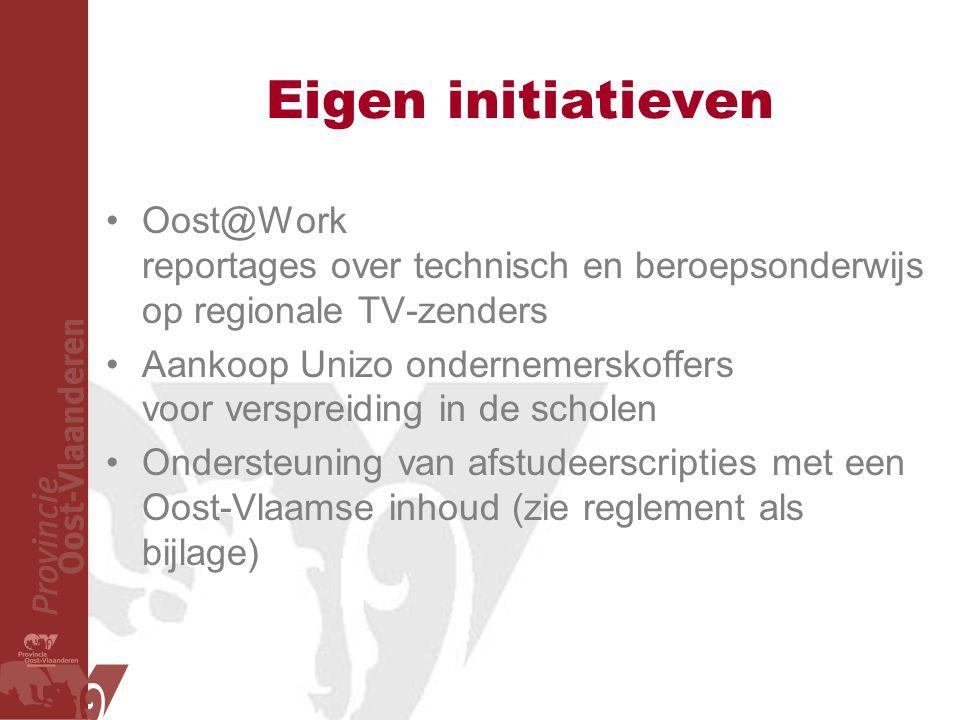 Eigen initiatieven Oost@Work reportages over technisch en beroepsonderwijs op regionale TV-zenders.
