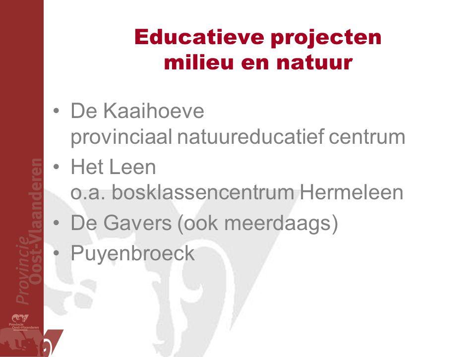 Educatieve projecten milieu en natuur