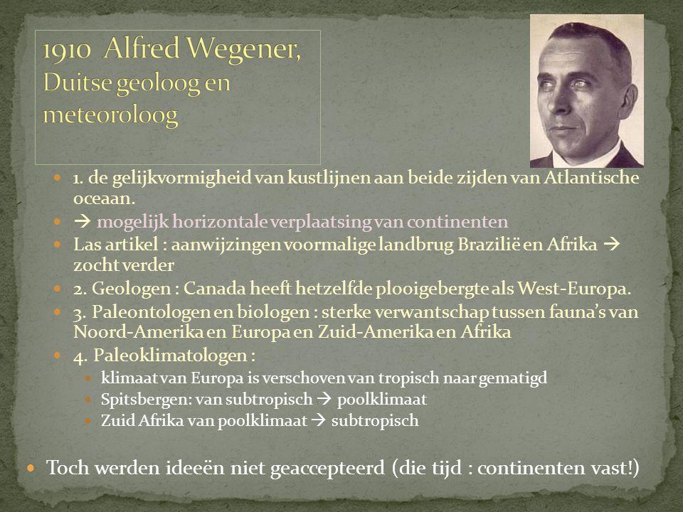 1910 Alfred Wegener, Duitse geoloog en meteoroloog