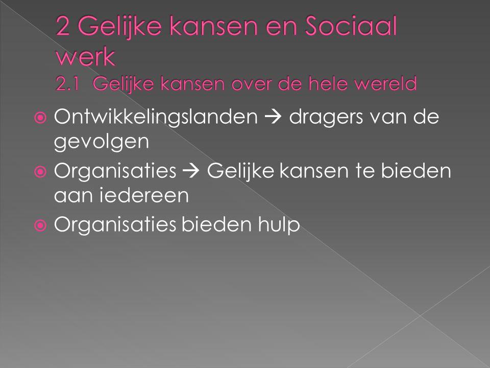 2 Gelijke kansen en Sociaal werk 2