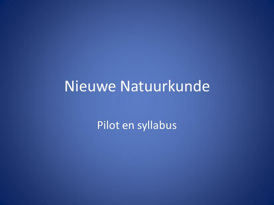 Nieuwe Natuurkunde Pilot en syllabus