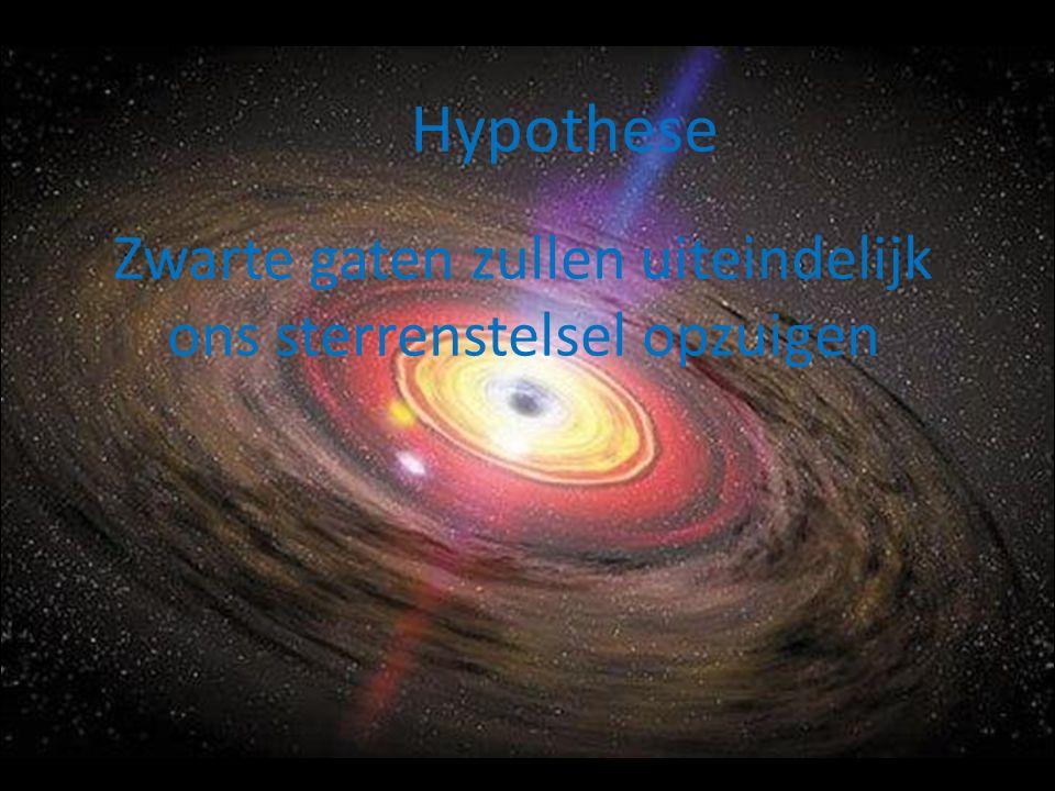 Zwarte gaten zullen uiteindelijk ons sterrenstelsel opzuigen