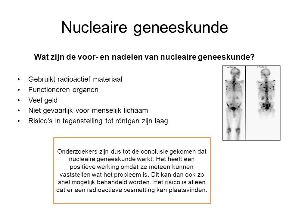 Nucleaire geneeskunde