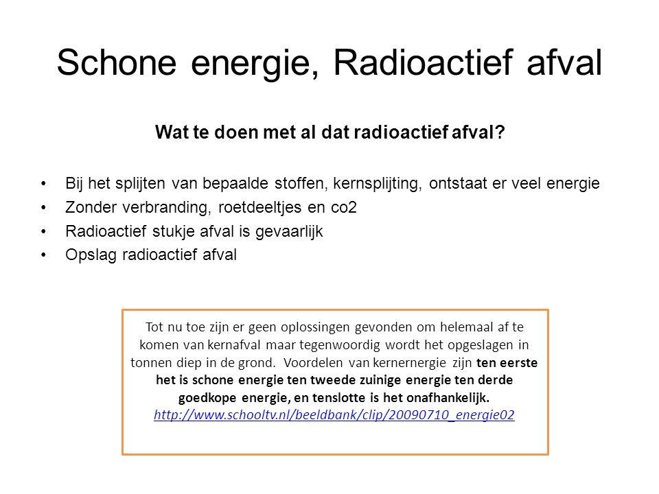 Schone energie, Radioactief afval