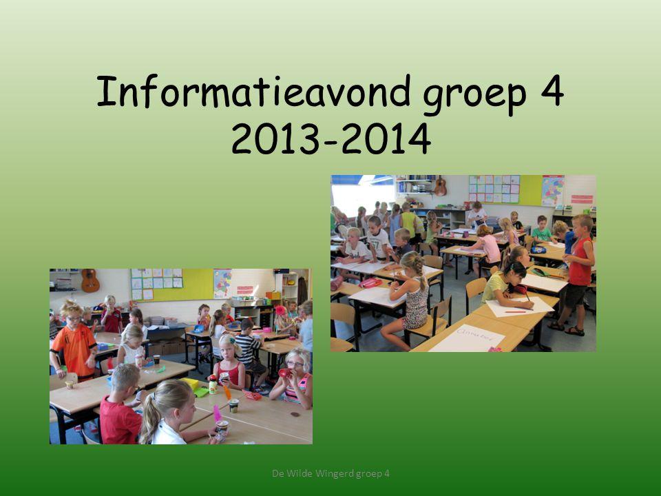 Informatieavond groep 4 2013-2014