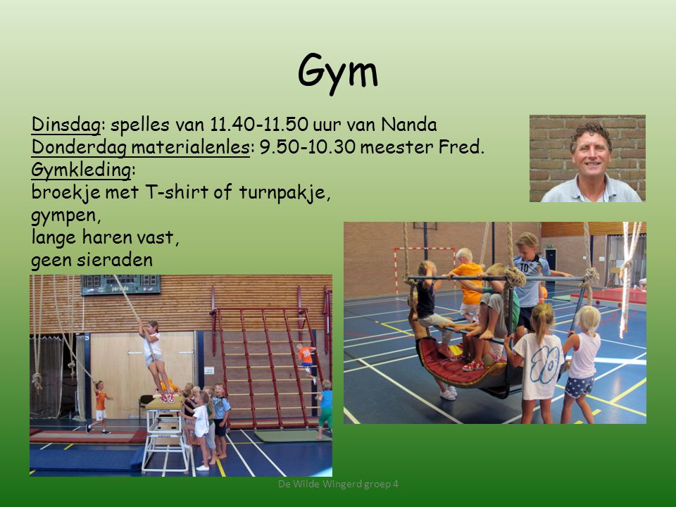 Gym Dinsdag: spelles van 11.40-11.50 uur van Nanda