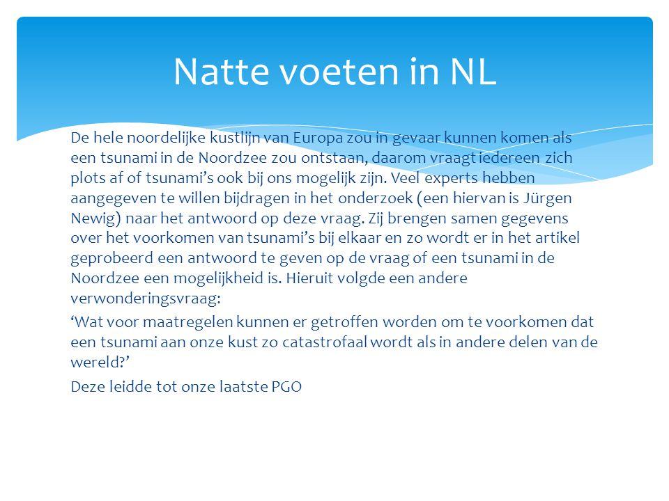 Natte voeten in NL