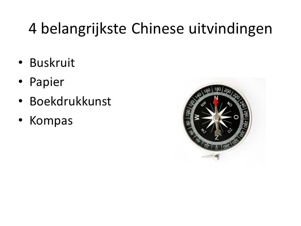 4 belangrijkste Chinese uitvindingen