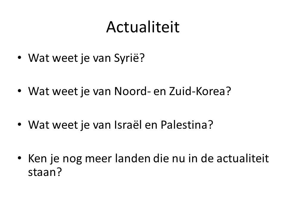 Actualiteit Wat weet je van Syrië