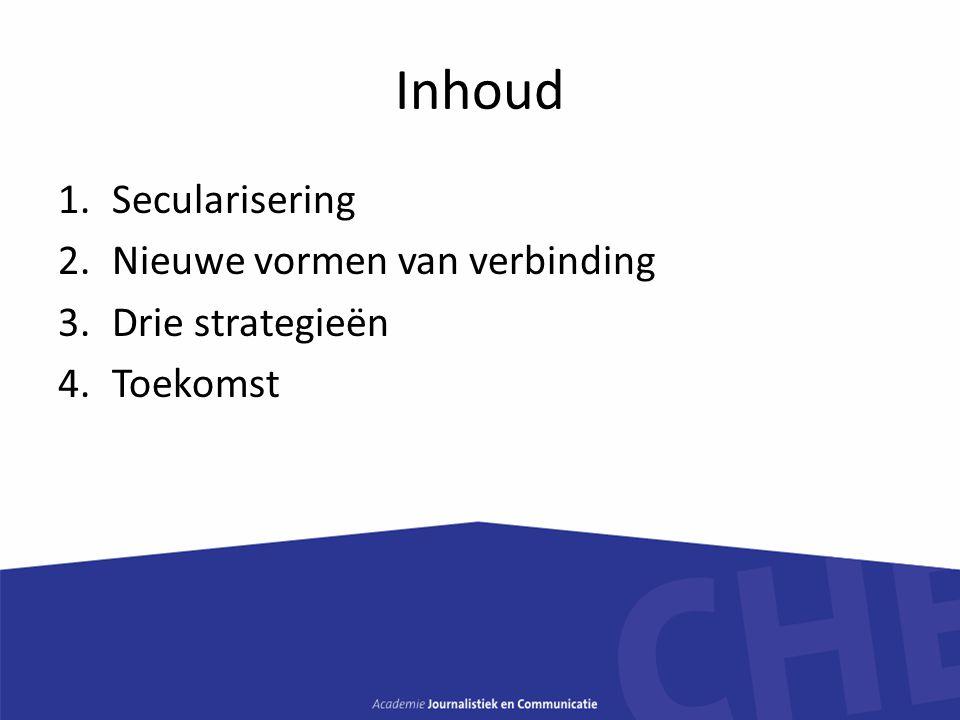 Inhoud Secularisering Nieuwe vormen van verbinding Drie strategieën